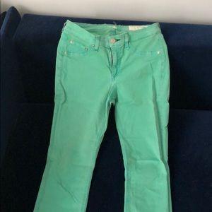 Rag and bone sea foam green skinny jeans